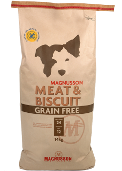 Magnusson Meat & Biscuit Grain Free Беззерновой корм для собак с нормальным уровнем активности.