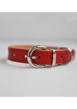El Hound Fancy Red - ошейник ручной работы cо строчкой